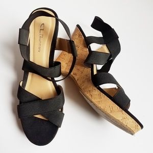 CL by Laundry Strappy Sandal Wedges